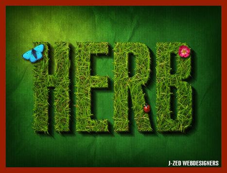 Effet de texte taillé dans l'herbe | | Photoshop Design | Scoop.it