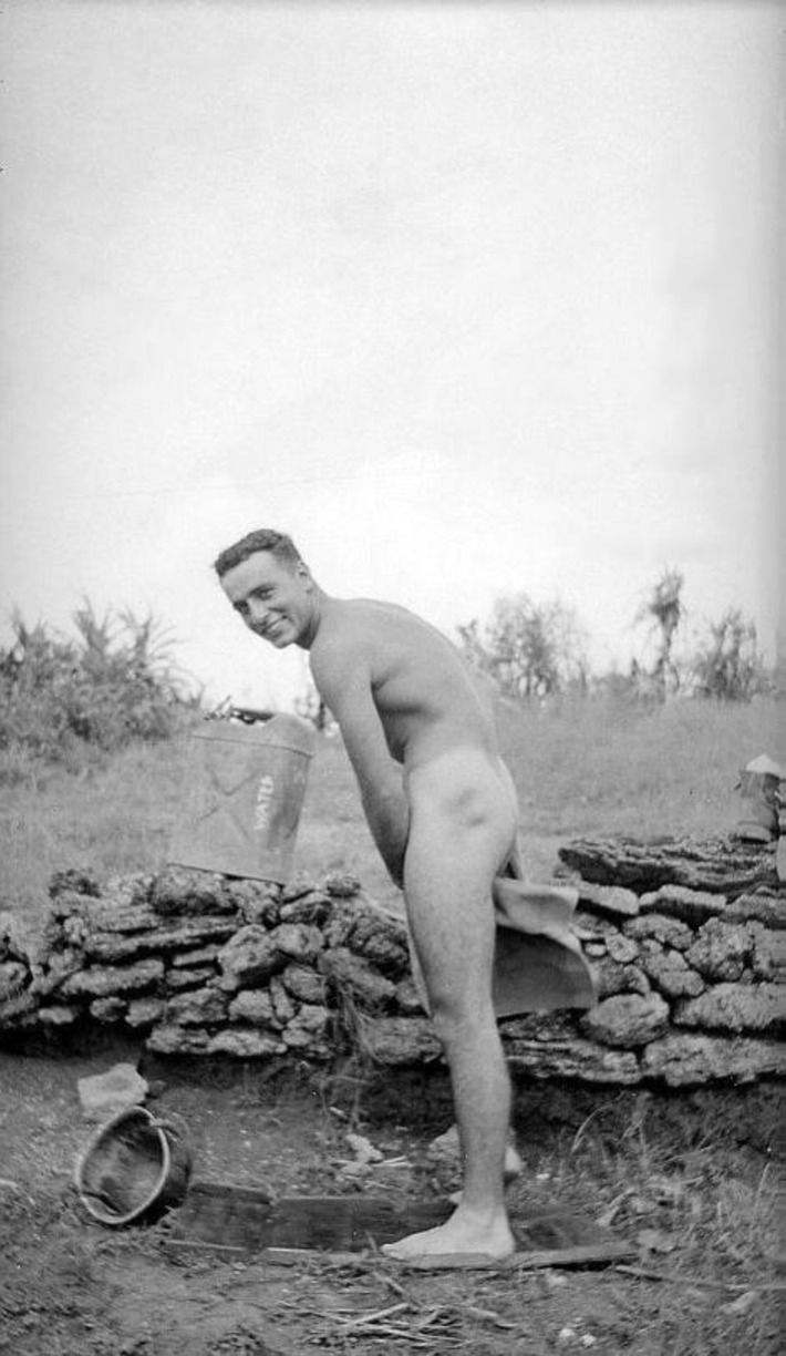 Naked soldier taking a bath in the field. (Vintage) | Sex History | Scoop.it