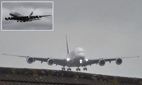 Footage shows Airbus A380 battling severe crosswinds during landing | Aviation & Airliners | Scoop.it