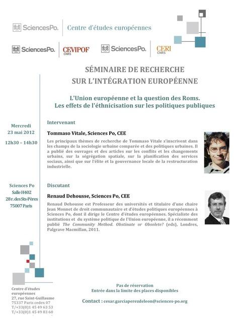Agenda - L'Union européenne et la question des Roms. | Union Européenne, une construction dans la tourmente | Scoop.it