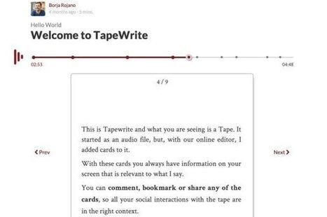 TapeWrite. Créer un blog audio – Les Outils Tice | Community Management | Scoop.it