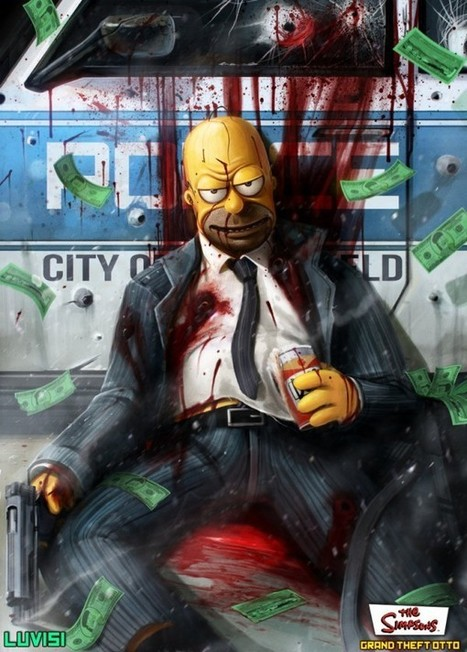 mashup Simpson & GTA | The simpsons | Scoop.it