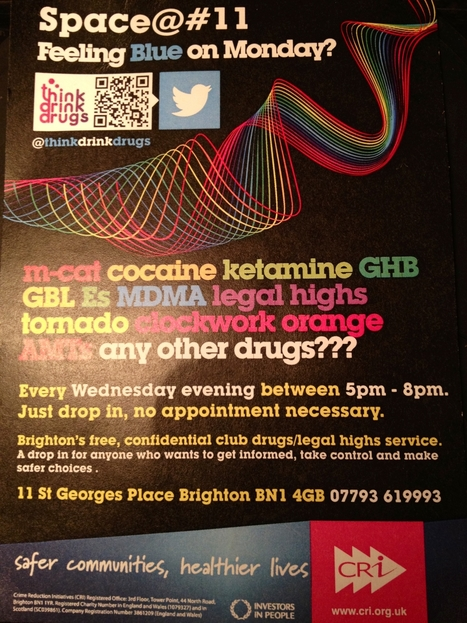 Brighton 'club drugs/legal highs' drop-in: Space@#11 | Initiatives & Services | Scoop.it