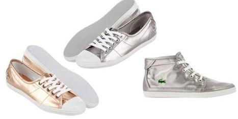 Le sneaker Lacoste si colorano di oro e argento per la Pe 2013 - Sfilate | fashion and runway - sfilate e moda | Scoop.it