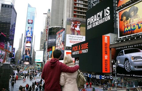 Ghost Beach Band Debates Piracy on Times Square Billboard | Alex's News on Music Piracy | Scoop.it