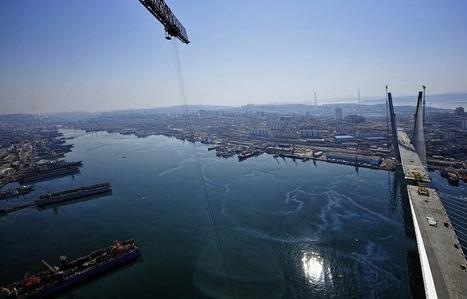 Progress In Construction Of The Bridge To Russky Island   Bridges of the World   Scoop.it