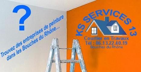 KS Services 13: Trouvez des entreprises de peinture dans les Bouches du Rhône… | Devis Travaux-peinture-maison-appartement-rénovation | Scoop.it