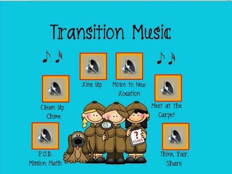 Mrs. Lirette's Learning Detectives: Transition Music in the Classroom! | EDCI397 Classroom Climate Plan | Scoop.it