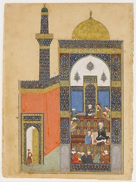 """""""Laila and Majnun at School"""", Folio from a Khamsa (Quintet) of Nizami   Mirando más allá del occidente   Scoop.it"""