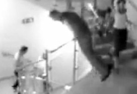 Guy Falls Over Railing In A Nightclub Video   A Sense of the Ridiculous   Scoop.it