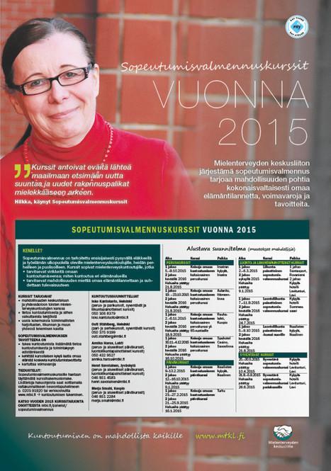 Sopeutumisvalmennuskurssit 2015 – uutta suuntaa elämään | Mielenterveyden keskusliitto | Kuntoutus & mielenterveys | Scoop.it
