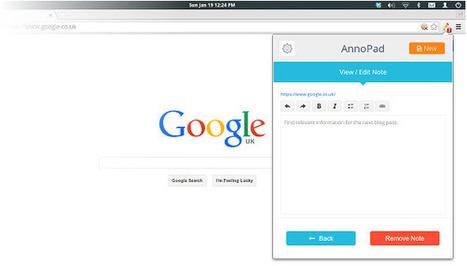 Una forma simple de crear notas en páginas web con Chrome | TIC y educación | Scoop.it