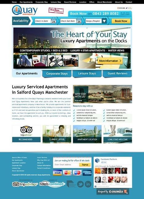 About Manchester Best Serviced Apartments & Luxury Hotels | self catering apartments Salford Quays, offers | Scoop.it