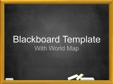 Apple Keynote Template - Blackboard Map   Apple Keynote Slides For Sale   Scoop.it