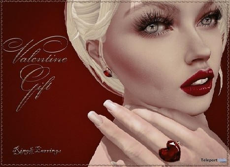 Ruby Heart Earrings and Ring Valentine Day Gift by ChicChica | Teleport Hub - Second Life Freebies | Second Life Freebies | Scoop.it