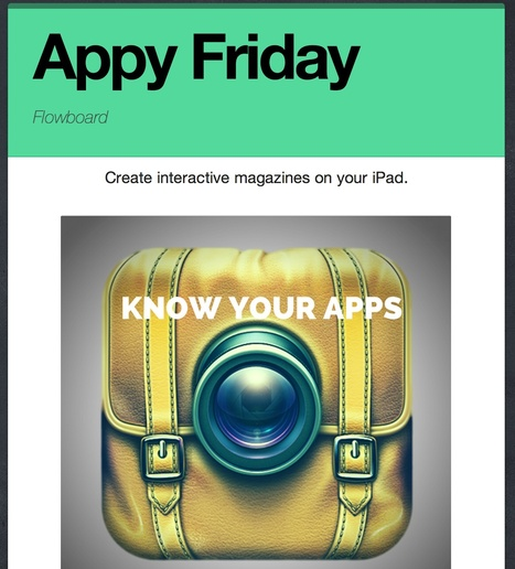 Librarians on the Fly: Appy Friday - FLOWBOARD | Educational technology | Scoop.it