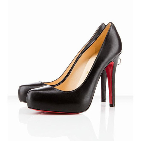 Red Bottom Christian Louboutin Rolando Zip 120mm Leather Pumps Black | my style | Scoop.it