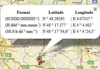 Afficher les coordonnées GPS d'un lieu précis - Map with GPS coordinates | Facebook | Scoop.it