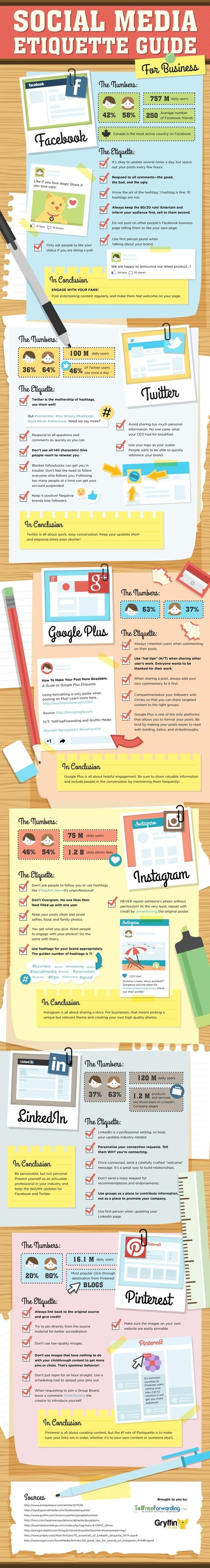38 Tips on Social Media Etiquette for Business #infographic | Events | Scoop.it