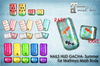 ((GACHA)) Maitreya NAILS HUD *Summer* | 亗 Second Life Freebies Addiction & More 亗 | Scoop.it