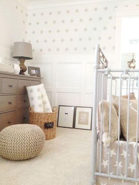 { Today I ♥ } Les murs étoilés dans la chambre des enfants | décoration & déco | Scoop.it