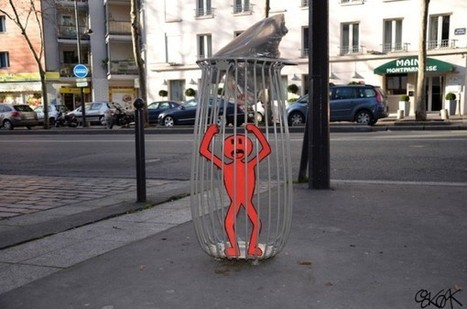 OakOak Uses Street Art to Clean Up the City - Visual News | Emotional triggers | Scoop.it
