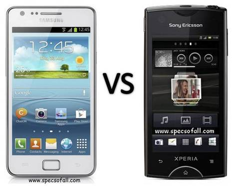 Samsung Galaxy S II Plus vs Sony Ericsson Xperia Ray Comparison | Specifications of Smartphones | Scoop.it