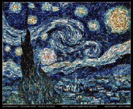 Take 100 NASA Photos, Stir, Make Van Gogh's 'Starry Night' | I Can Do That! | Scoop.it