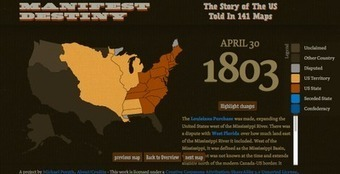 Free Technology for Teachers: Manifest Destiny in 141 Interactive Maps | WCPS Instructional Technology | Scoop.it