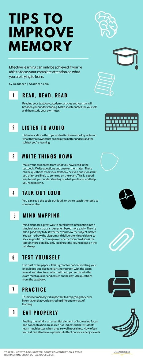 Tips to Improve Your Memory Infographic - e-Learning Infographics | Pedalogica: educación y TIC | Scoop.it