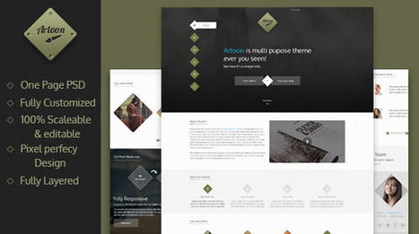 Artoon - One Page PSD Template - Mojo Themes | Theme PSD | Scoop.it