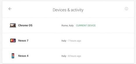 Sécurité : Google propose de voir tous les appareils reliés à son compte | Time to Learn | Scoop.it
