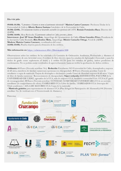 Doceañista: El Patrimonio cultural: una oportunidad para el desarrollo 2-4 de julio | Marieta Cantos Casenave | Scoop.it