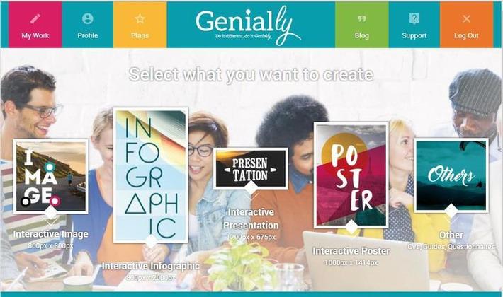 Un outil de présentation en ligne, Genial.ly   TIC et TICE mais... en français   Scoop.it