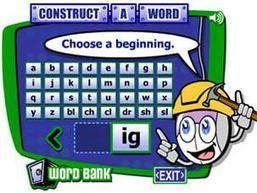 ReadWriteThink: Student Materials: Construct-a-Word | Phonics Practice and Support | Scoop.it