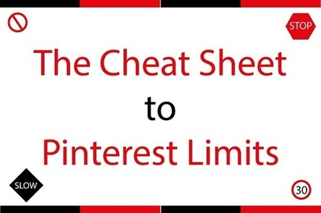 The Cheat Sheet to Pinterest Limits [Infographic] | Pinterest | Scoop.it