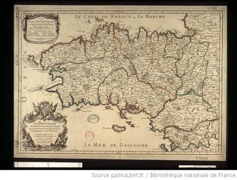 La Bretagne divisée en ses neuf eveschés / par Hubert Jaillot / 1706   Rhit Genealogie   Scoop.it