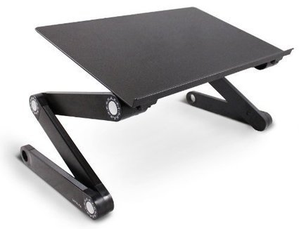 Lavolta DJ Laptop Stand Table Desk Tray for DJ Mixer Controller Turntable Amplifier Karaoke Machine CD MP3 MIDI Player - Folding Adjustable-Angle Legs - Black | MixingMastering.co.uk | Scoop.it