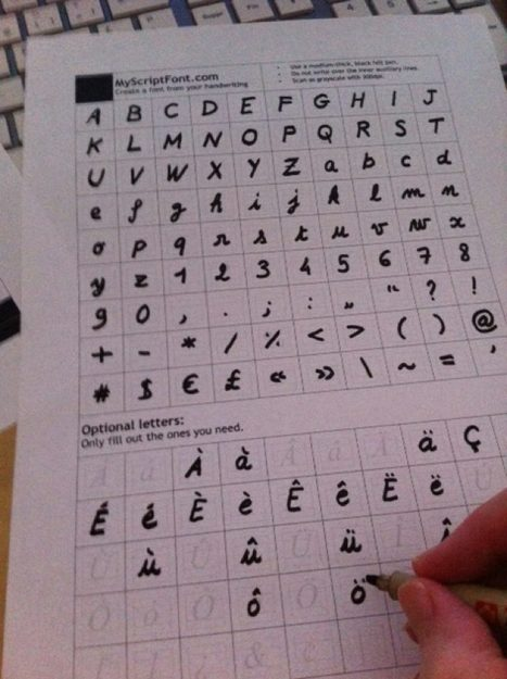 Créer une police avec sa propre écriture gratuitement | Time to Learn | Scoop.it