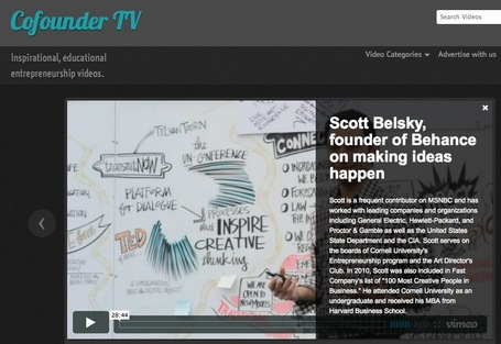 A Curated Video Site Focusing Only on Educating Entrepreneurs: CoFounder TV | Wiki_Universe | Scoop.it