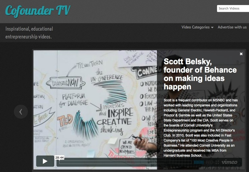 A Curated Video Site Focusing Only on Educating Entrepreneurs: CoFounder TV | Beyond Web and Marketing 3.0 | Scoop.it
