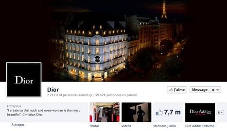 Analyse d'une stratégie de marque sur Facebook – Le cas Dior | Social Media Curation par Mon Habitat Web | Scoop.it