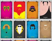 WWF Legends Minimalist Posters by Bernie Gross | inspirationfeed.com | Spread the Nerd! | Scoop.it