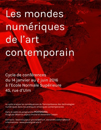 Les mondes numériques de l'art contemporain - École normale supérieure - Paris | Art contemporain, photo & multimédias | Scoop.it