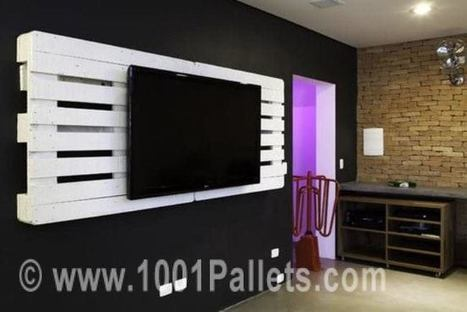Pallet Wall TV Holder | Upcycled Objects | Scoop.it