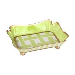 Basketweave Green Trinket Tray | Best Collection of Home Decor | Scoop.it