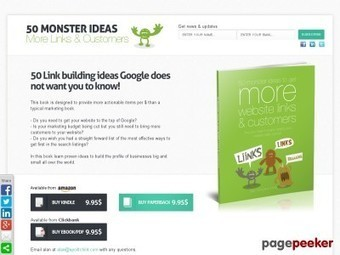 New book 50 monster ideas to get MORE website links & customers (Monster Marketing Ideas) | Ebooks, Software and Downloads | Scoop.it