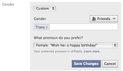 Facebook offers new gender options for users | Management et promotion | Scoop.it