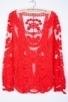 Long Sleeve Crocheted Lace Top - OASAP.com | Oasap street fashion | Scoop.it