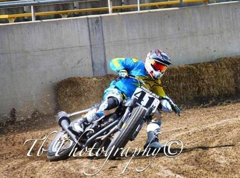 Stevie Bonsey tearin' it up out at King City on Friday riding a tt500. Yes the r... | California Flat Track Association (CFTA) | Scoop.it